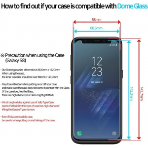 Zestaw naprawczy Whitestone Dome Glass Samsung Galaxy S8 Plus
