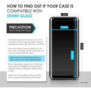 Zestaw naprawczy Whitestone Dome Glass Samsung Galaxy Note 8