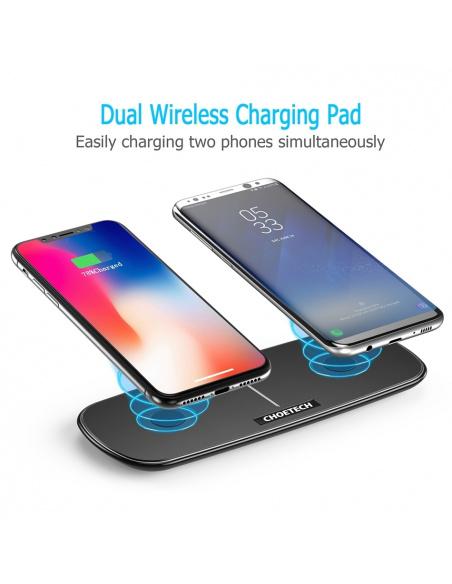 Ładowarka indukcyjna Choetech QI Dual Wireless Charger