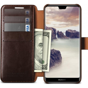 Etui VRS Design Layered Dandy Huawei P20 Lite Brown
