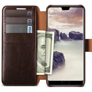Etui VRS Design Layered Dandy Huawei P20 Brown
