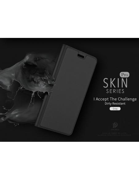 Etui DuxDucis SkinPro LG Q7 Gray + Szkło
