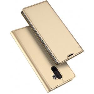 Etui DuxDucis SkinPro Pocophone F1 Gold + Szkło