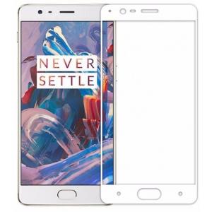 Szkło hartowane Home Screen Glass OnePlus 3 Full Cover White