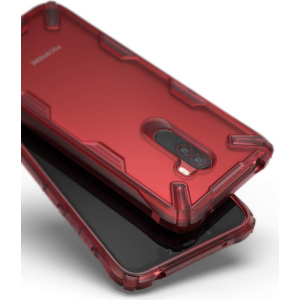 Etui Ringke Fusion-X Pocophone F1 Ruby Red