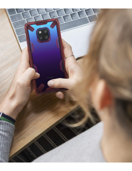 Etui Ringke Fusion-X Huawei Mate 20 Pro Ruby Red