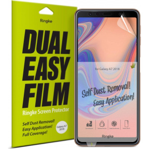 Folia Ringke Dual Easy Full Cover Samsung Galaxy A7 2018 Case Friendly