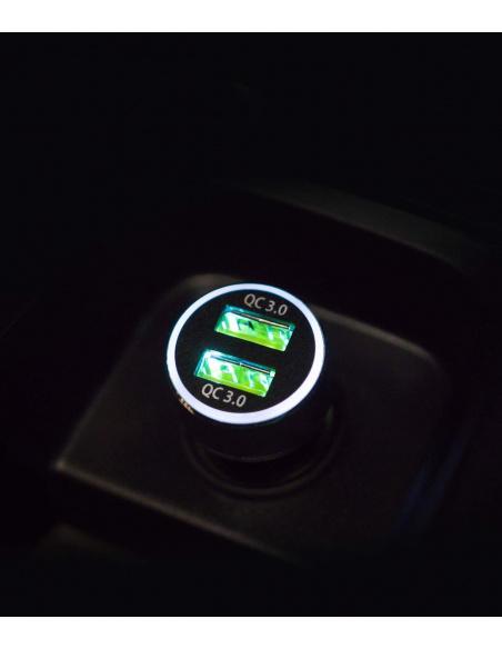 Ładowarka samochodowa Ringke RealX2 2x Quick Charge 3.0 Black