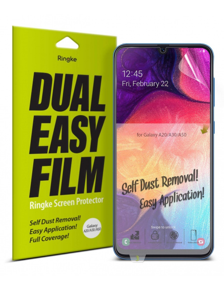 Folia Ringke Dual Easy Full Cover Samsung Galaxy A20/A30/A30s/A50/A50s Case Friendly