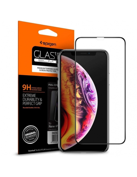 Szkło hartowane Spigen GLAS.tR TC 3D Full Cover Case Friendly iPhone 11 Pro/iPhone XS