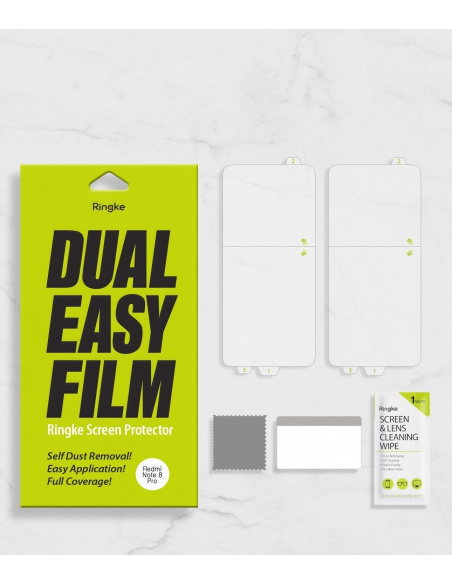Folia hydrożelowa Ringke Dual Easy Full Cover Redmi Note 8 Pro Case Friendly