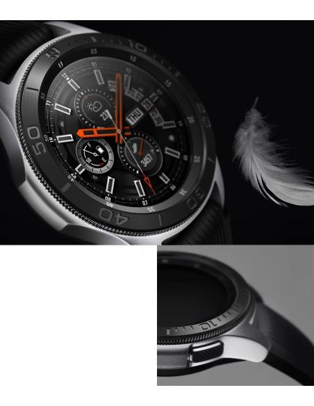 Nakładka na tachymetr Ringke Samsung Galaxy Gear S3/Watch 46mm stal nierdzewna czarna GW-46-18