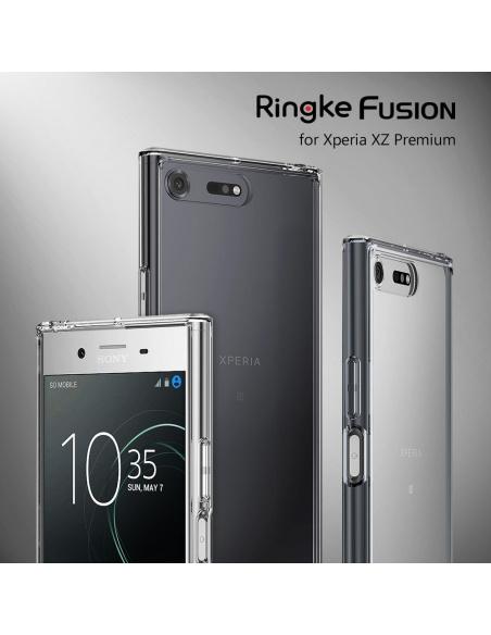 Etui Ringke Fusion Xperia XZ Premium Smoke Black