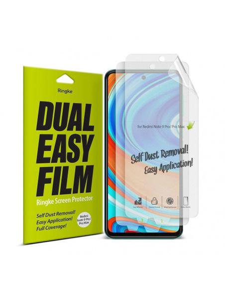 Folia hydrożelowa Ringke Dual Easy Full Cover Redmi Note 9S/9 Pro/9 Pro Max Case Friendly