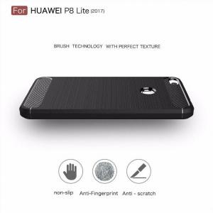 Etui HS Case SOLID TPU Huawei P8 Lite 2017 Black + Szkło