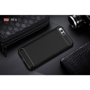 Etui HS Case SOLID TPU Xiaomi Mi6 Black + Szkło