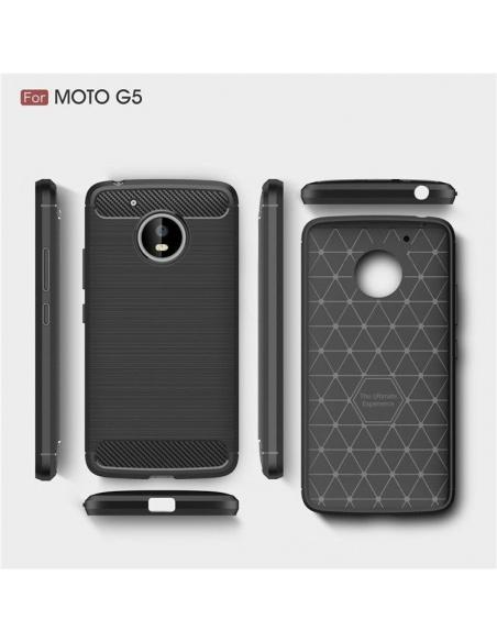 Etui HS Case SOLID TPU Moto G5 Black + Szkło