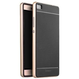 Etui iPaky Premium Hybrid Huawei P8 Gold + Szkło