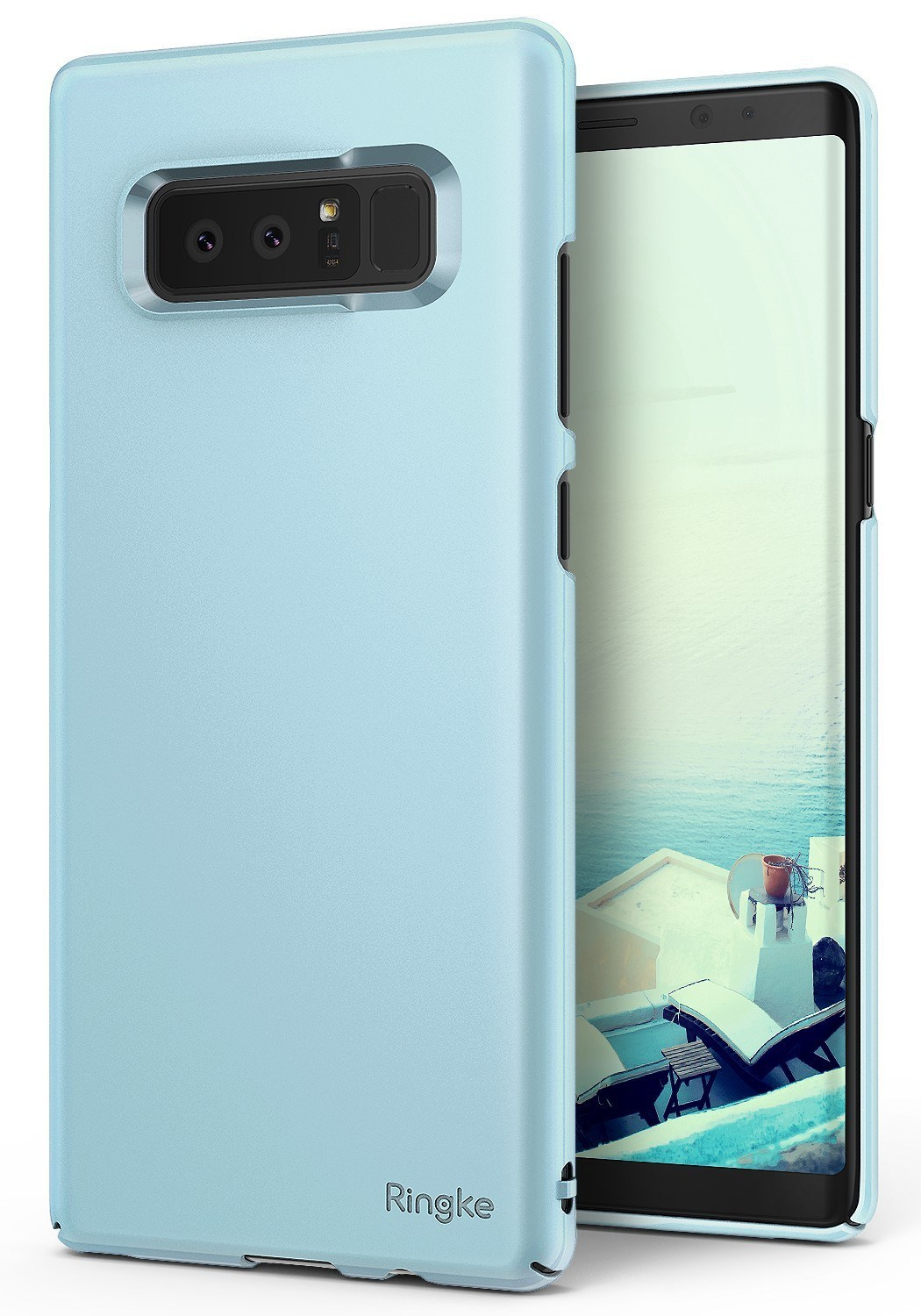 Ringke Slim Samsung Galaxy Note 8 Sky Blue B2b Home Screen Rearth S8 Invisible Defender Protector