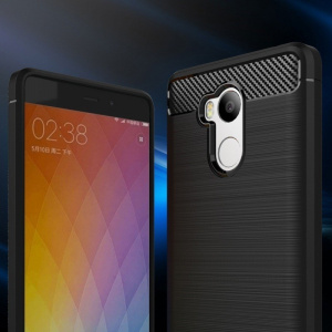 Etui HS Case SOLID TPU Xiaomi Redmi 4 Pro Black + Szkło