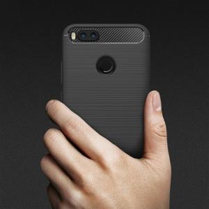 Etui HS Case SOLID TPU Xiaomi Mi A1/5X Black + Szkło